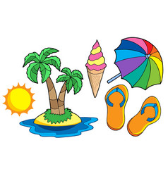 collection of summer images vector image