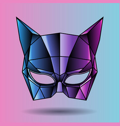 Colored mask superhero woman vector