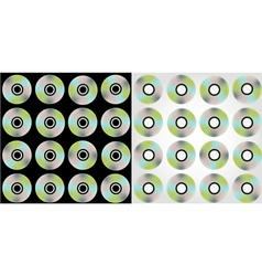Compact discs pattern vector
