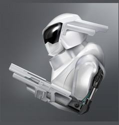 concept fictional armed robot police vector image