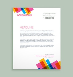 creative colorful letterhead design vector image