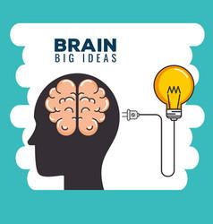 Creative mind set icons vector