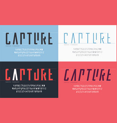 cropped typography set uppercase letters and vector image
