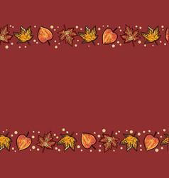 Cute autumn maple and aspen leaves seamless vector