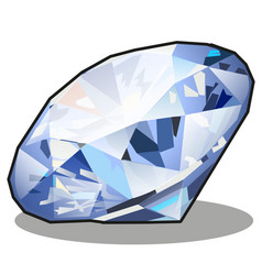 diamond blue color isolated on white background vector image