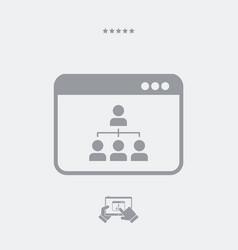 digital network - web icon vector image
