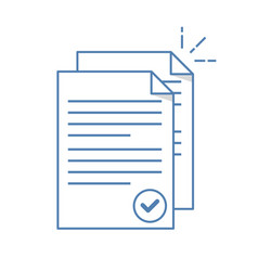 Documents icon stack of paper sheets confirmed vector