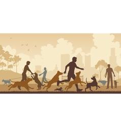 Dog park vector