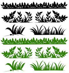 doodles design for grasses vector image vector image