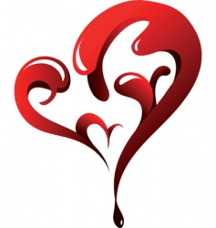 dripping heart vector image