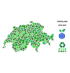 Ecology green composition swissland map vector