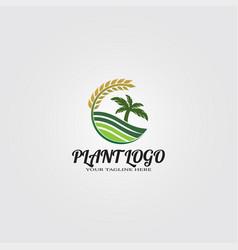 Farming logo template logo for business corporate vector