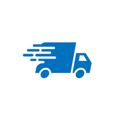 Fast delivery truck icon graphic design template vector
