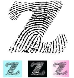 Fingerprint Alphabet Letter Z vector