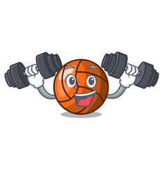 fitness volleyball character cartoon style vector image