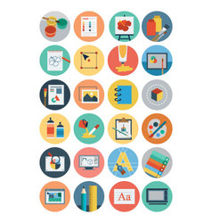 Flat Design Icons 6 vector image