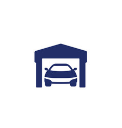 garage and car icon on white vector image