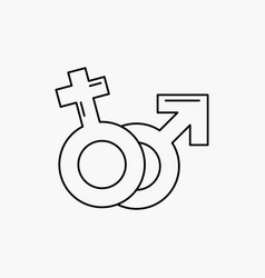 gender venus mars male female line icon isolated vector image