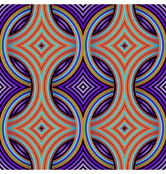 Geometric Retro Seamless Pattern vector image
