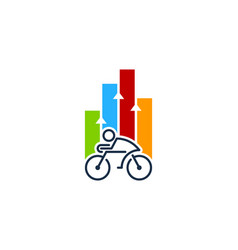 Graph bike logo icon design vector
