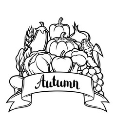 harvest festival background autumn vector image