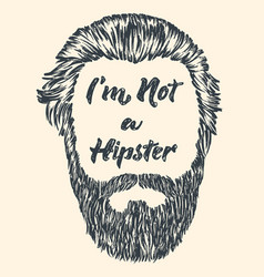 hipster hair and beard vintage design poster with vector image