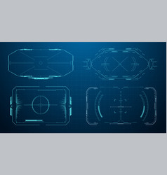 hud futuristic frame game target borders sci-fi vector image