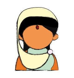 indian woman cartoon vector image