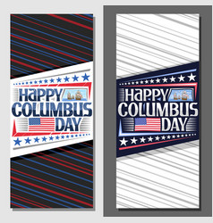 Layouts for columbus day vector
