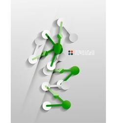 line connection 3d paper design vector image