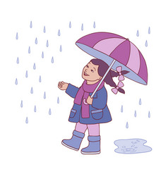 little kid girl under vector image