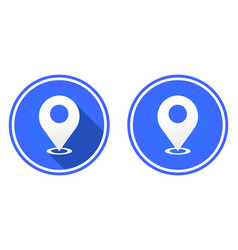 location mark round flat icon gps pointer mark vector image