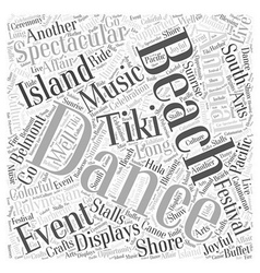 long beach events Word Cloud Concept vector image