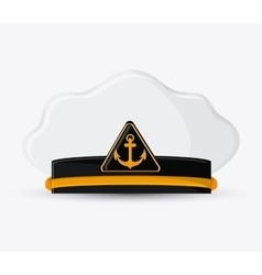 Marine cap cloth accesory design vector