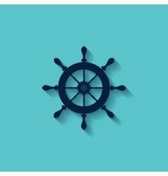 Marine steering wheels l icon vector