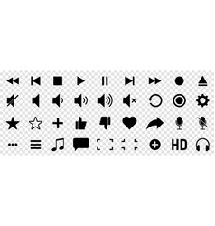 media player icons can use for mobile and web vector image