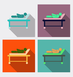medical moving patient on stretcher vector image