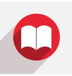 modern book red circle icon vector image