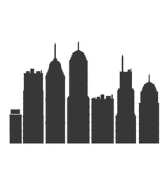 modern city skyline silhouette icon vector image