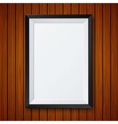 Modern frame with shadow on wooden vector
