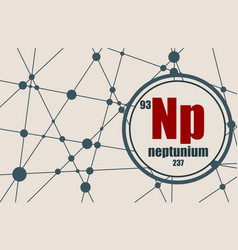 neptunium chemical element vector image