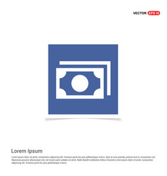 note icon - blue photo frame vector image