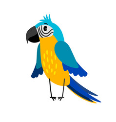 Parrot cartoon bird icon vector