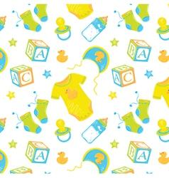 Pattern children clothes vector
