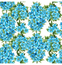 Pattern forget-me-not vector