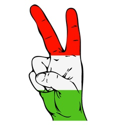 Peace sign hungarian flag vector