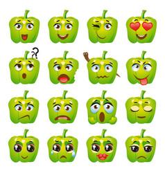 Pepper emoji emoticon expression vector
