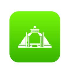 polonnaruwa ancient stupa icon digital green vector image