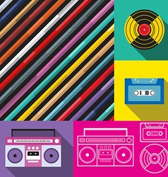 Pop art music background vector