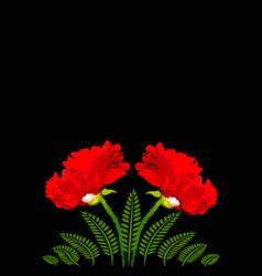 Red poppies on a black background a4 vertical vector